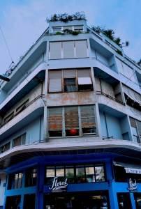 Blue Apartment Block