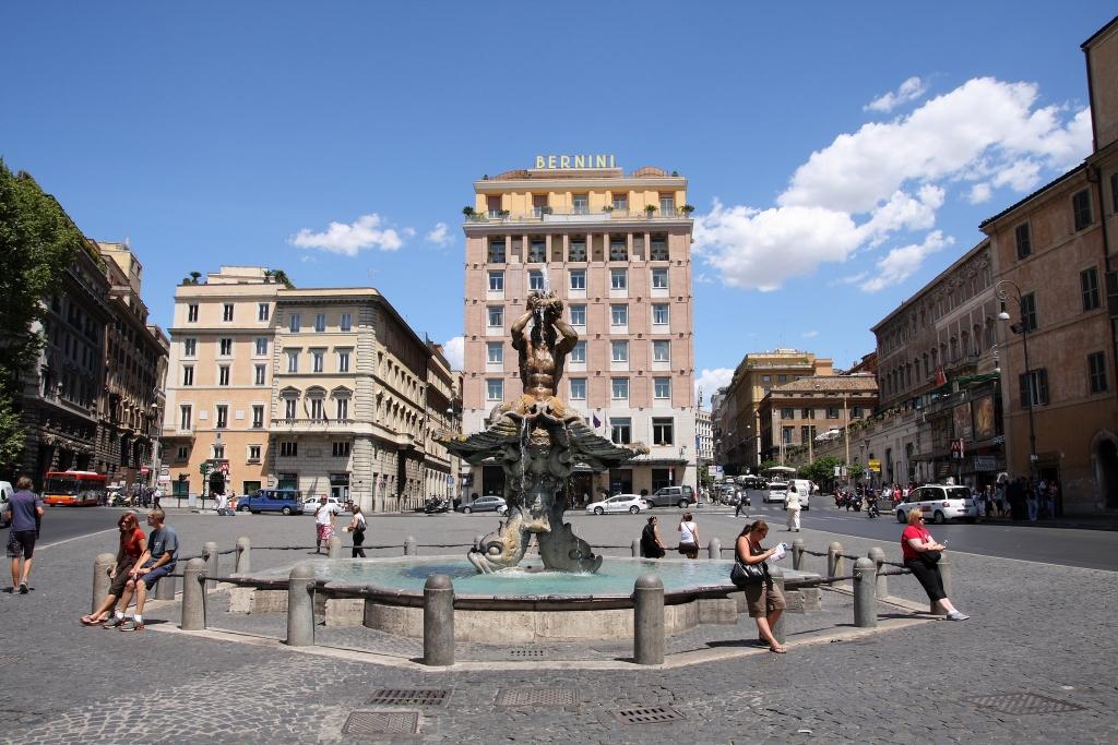 Piazza Barberini  square in Rome