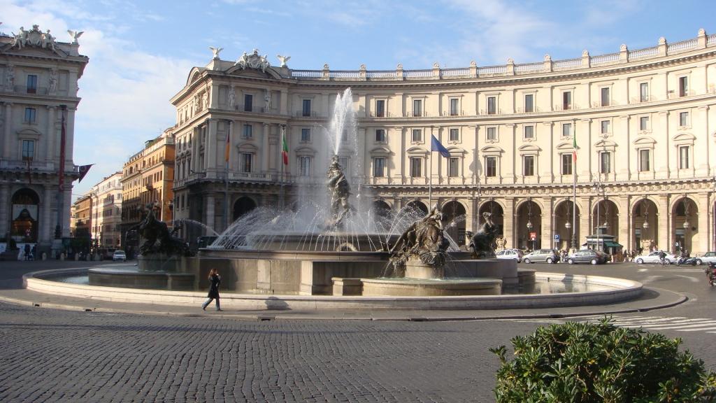 Piazza de la Republica square in Rome