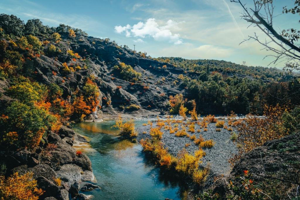 Venetikos River in Grevena, Greece's Mainland