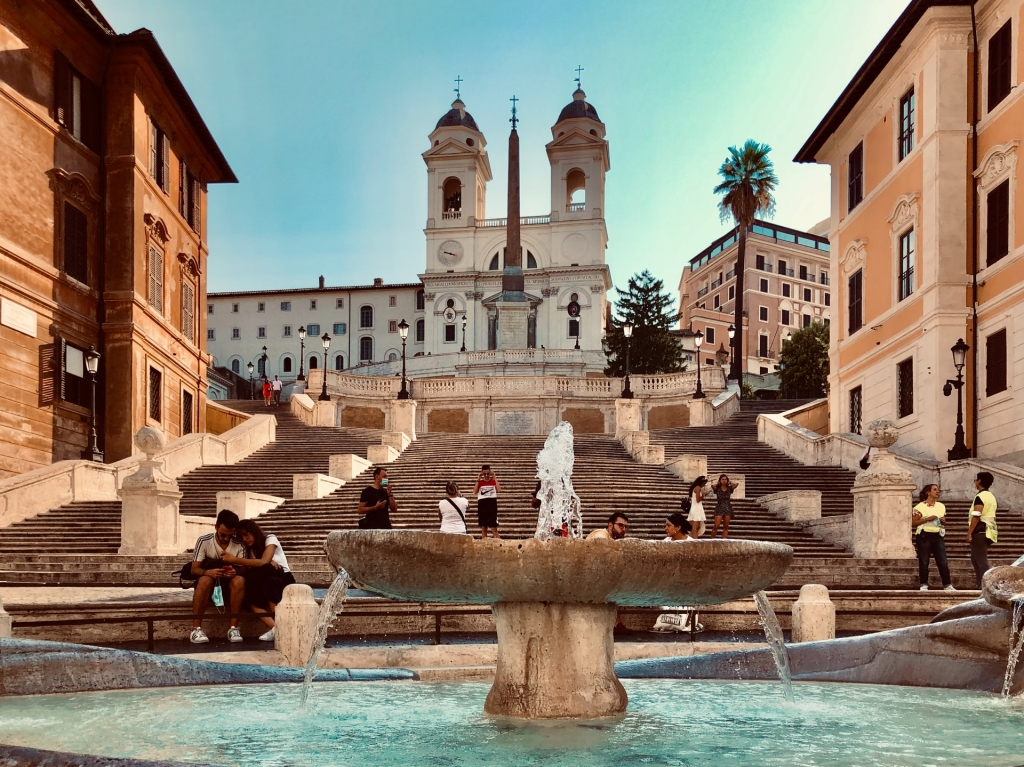 the spanish steps at Piazza di Spagna