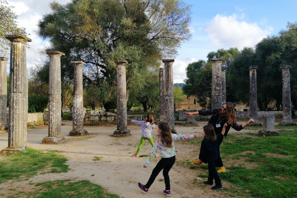 Family Trip in Ancient Olympia