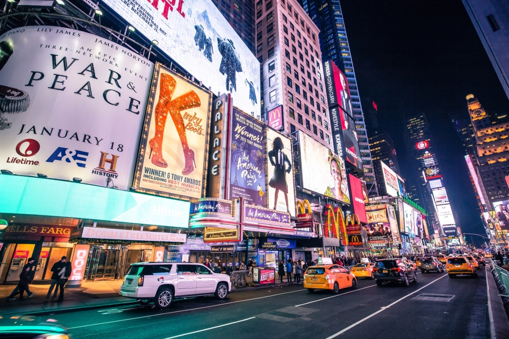 time square n New York tour
