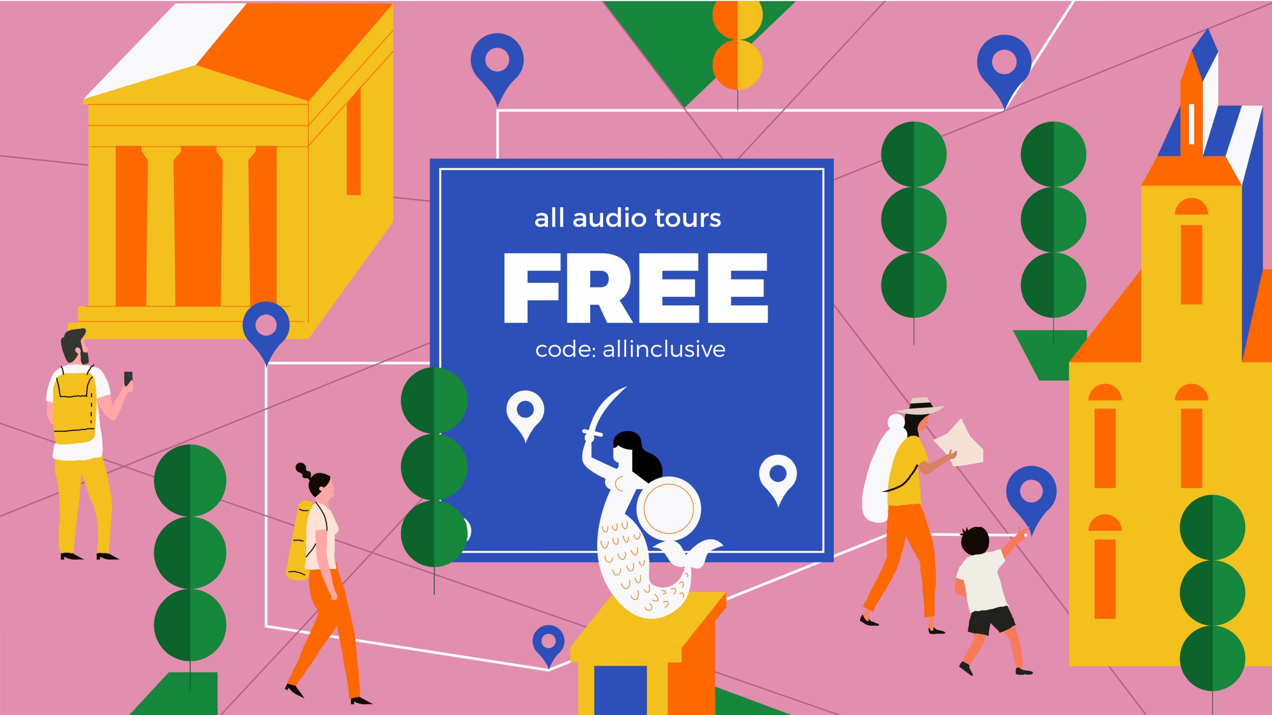 Allinclusive: All audio tours for free for one day